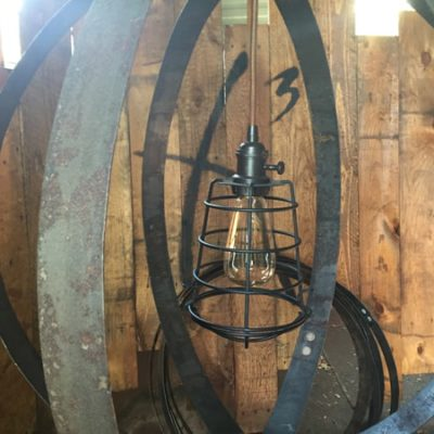 Bourbon Barrel Ring Chandelier