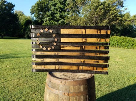 Betsy Ross Bourbon Barrel Flag