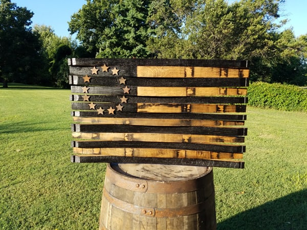 Betsy Ross Bourbon Barrel American Flag