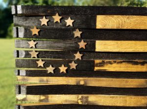 Betsy Ross Bourbon Barrel Flag