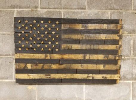 50 Star Bourbon Barrel American Flag