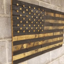 Bourbon Barrel American Flag