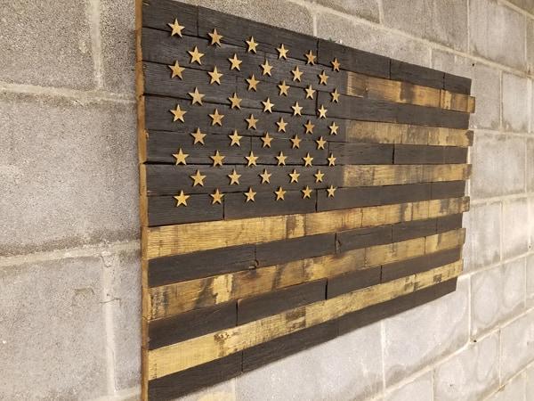 50 Star Bourbon Barrel American Flag | ALL3N | Bourbon Barrel Crafts