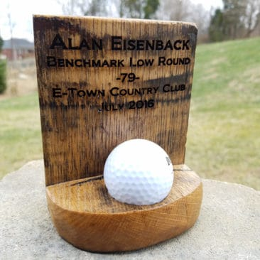 Engraved Golf Ball Trophy