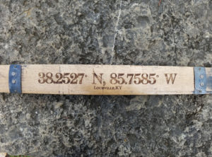 Latitude & Longitude Bourbon Barrel Stave
