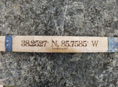 Latitude & Longitude Bourbon Barrel Stave