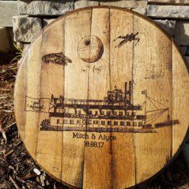 Bourbon Barrel Signature Guestbook