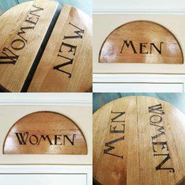 Men & Women Restroom Signs